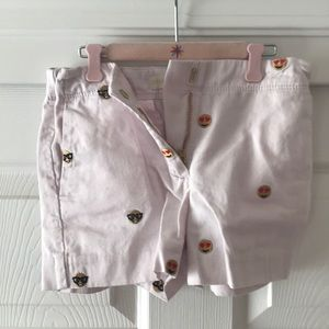 Crew cuts little girls emoji shorts.